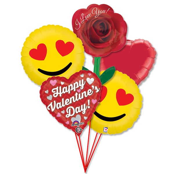 valentines day balloons bouquet emoji hearts love - balloon shop nyc, Ideas