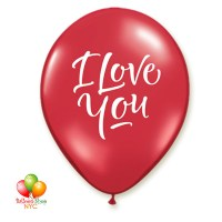 I Love You Red Latex Balloon Inflated 12 Inch Delivery from Balloon Shop NYC