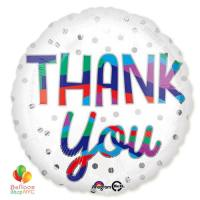 Thank You Silver Dots Mylar Balloon 18 inch delivery from Balloon Shop NYC