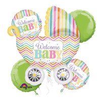 Welcome Baby Brights Balloon Bouquet delivery from Balloons Shop NYC