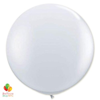 Crystal Clear Latex Party Balloon 24 inch Round Inflated delivery Balloon Shop NYC