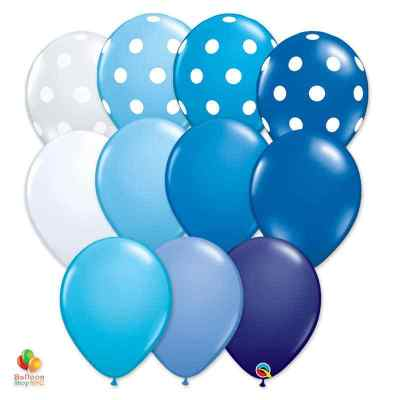 Express Order Ultimate Blue Collection Latex Party Balloons 11 inch Inflated Delivery Balloon Shop NYC