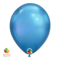 Chrome Blue Latex Party Balloon 12 inch Inflated delivery from Balloon Shop NYC