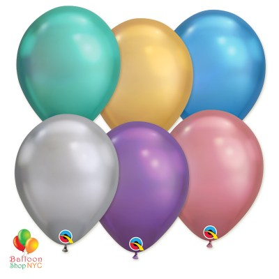 Express Order Chrome Collection Latex Party Balloons delivery from Balloon Shop NYC