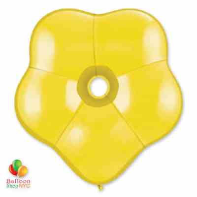 GEO BLOSSOM CITRINE YELLOW Latex 16 delivery from Balloon Shop NYC
