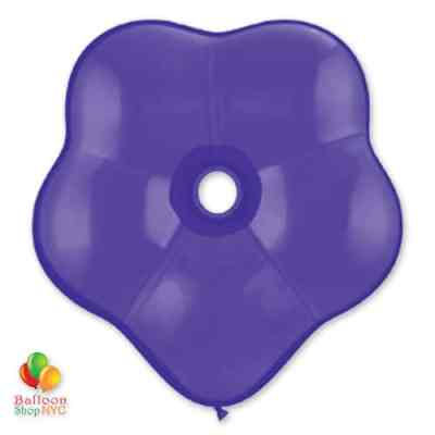 Purple Violet Geo Blossom Latex Party Balloon delivery from Balloon Shop NYC