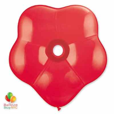 Red Geo Blossom Latex Party Balloon delivery from Balloon Shop NYC