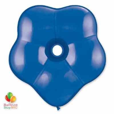 Sapphire Blue Geo Blossom Latex Party Balloon delivery from Balloon Shop NYC