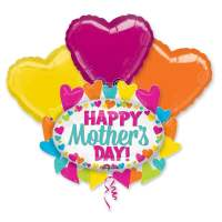 Happy Mothers Day SuperShape Balloon Bouquet delivery from Balloon Shop NYC
