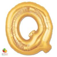 Jumbo Letter Q Foil Balloon Gold 40 inch Inflated delivery from Balloon Shop NYC