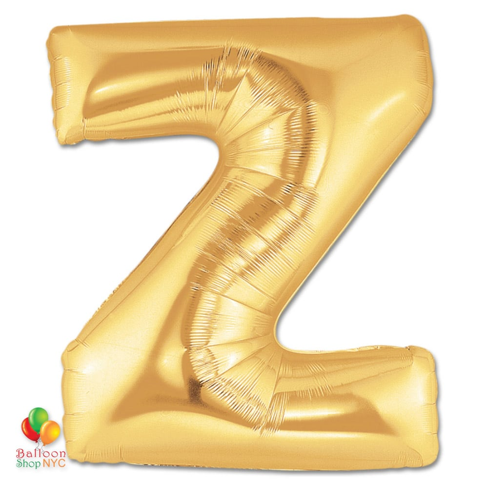 Letter Z Pictures.Letter Z Gold Giant Foil Balloon 40 Inch Inflated Balloon Shop Nyc