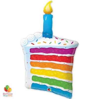 Rainbow Cake Candle Jumbo Balloon 42 in 49379 from Balloon Shop NYC