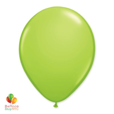 Lime Green Latex Party Balloon 12 Inch Inflated delivery Balloon Shop NYC