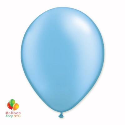 Azure Pearl Latex Party Balloon 12 Inch Inflated delivery Balloon Shop NYC