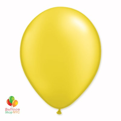 Citrine Yellow Pearl Latex Party Balloon 12 Inch