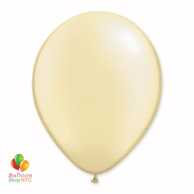 Ivory Pearl Latex Party Balloon 12 Inch Inflated Delivery Balloon Shop NYC