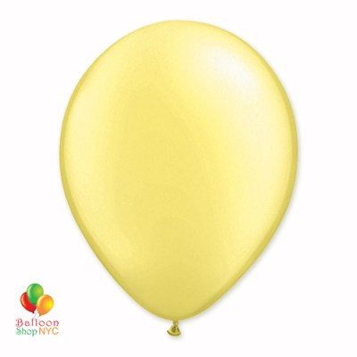 Lemon Pearl Latex Party Balloon 12 Inch Inflated delivery Balloon Shop NYC