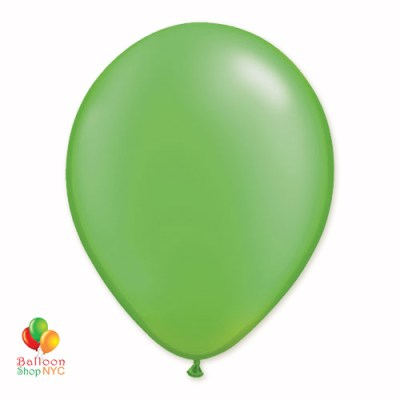 Lime Green Pearl Latex Party Balloon 12 Inch Inflated delivery Balloon Shop NYC