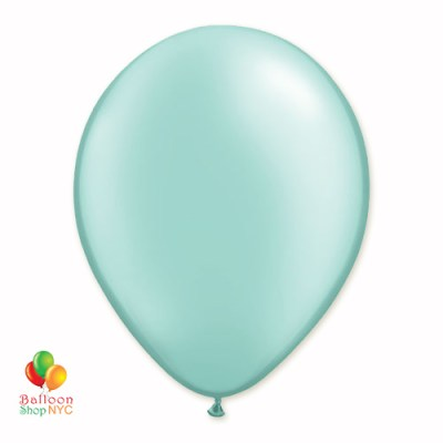 Mint Green Pearl Latex Party Balloon 12 Inch Inflated delivery Balloon Shop NYC