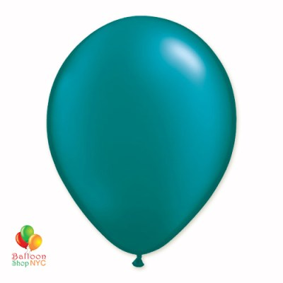 Teal Pearl Latex Party Balloon 12 Inch Inflated delivery Balloon Shop NYC