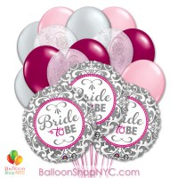 Elegant Bride Mylar Latex Balloon Bouquet Inflated high-quality cheap balloons nyc delivery Balloon Shop