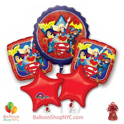 Dc Super Hero Girls Mylar Balloon Bouquet Inflated high-quality cheap balloons nyc delivery