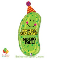 No Big Dill Jumbo Fun Mylar Balloon 37 Inch Inflated high-quality cheap balloons nyc delivery