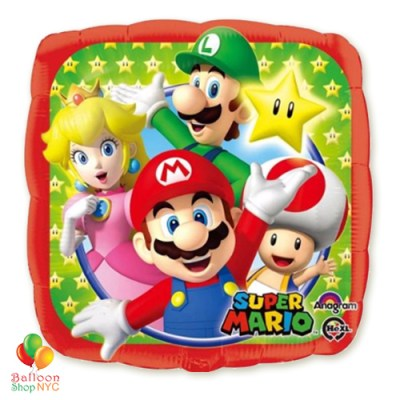 Super Mario Foil Balloon 18 Inch Inflated high-quality cheap balloons nyc delivery