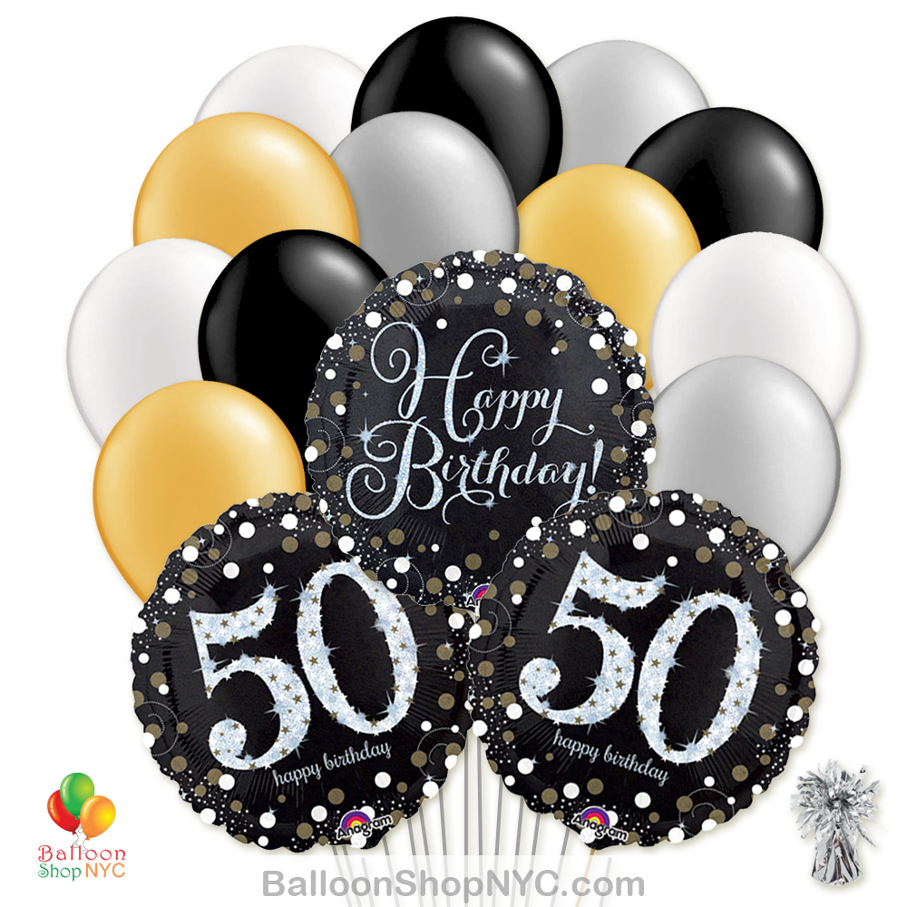 Sparkling Happy Birthday Mylar Latex Pearl Balloon Bouquet Helium Inflated High Quality Cheap Balloons Jpg 1000x1000