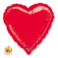 Red Heart Mylar Balloon 18 Inch Inflated Delivery in New York from Balloon Shop NYC