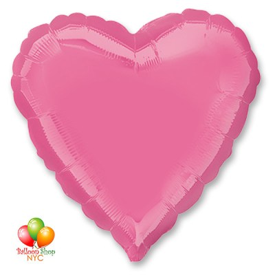 Rose Heart Mylar Balloon 18 Inch Inflated delivery in New York from Balloon Shop NYC