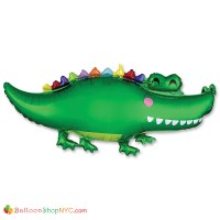 Happy Gator 42 Inch Mylar Balloon inflated with Helium from Balloon Shop NYC - delivery in New York City