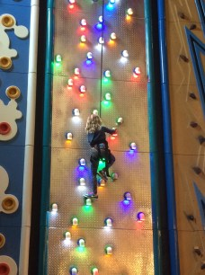 Addy got to the top of all climbing walls!