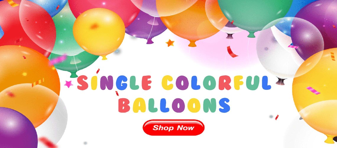 Single Colorful Balloons