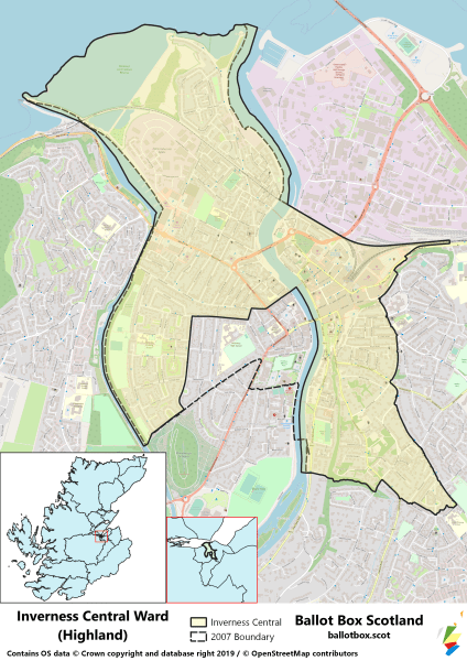 Map of Inverness Central Ward