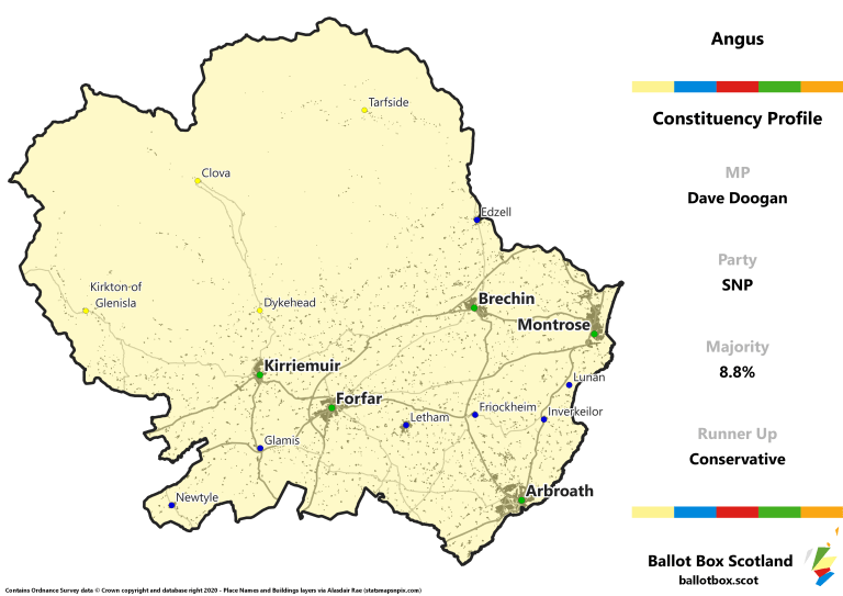 Angus Constituency Map