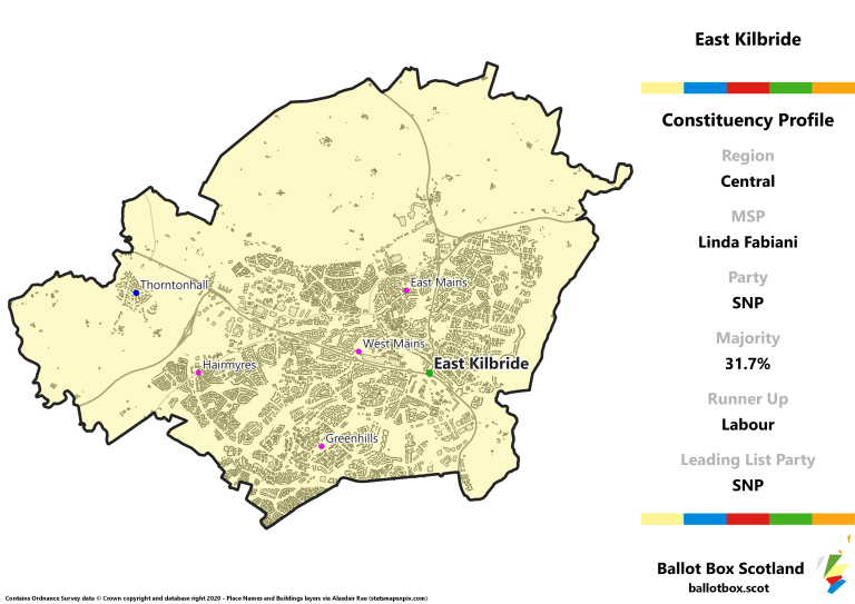 Central Region - East Kilbride Constituency Map
