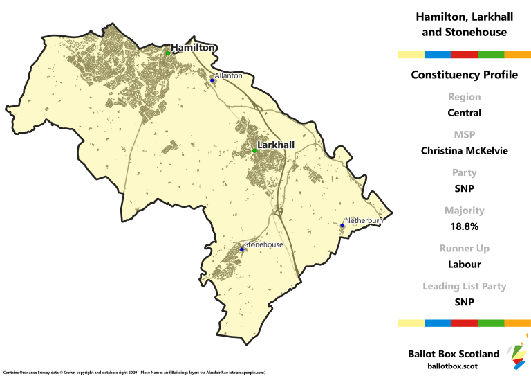 Central Region - Hamilton, Larkhall and Stonehouse Constituency Map