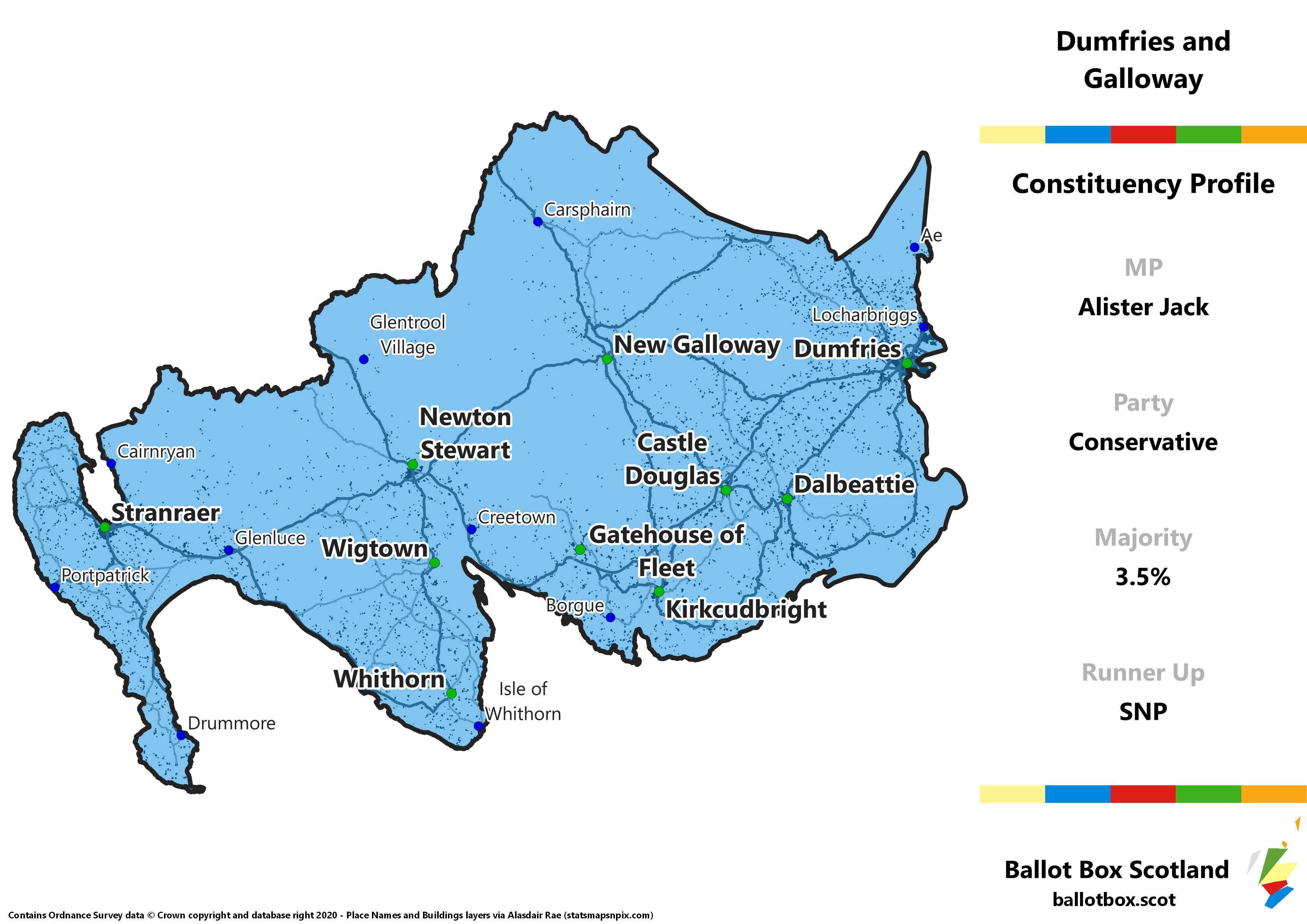 Dumfries and Galloway Constituency Map