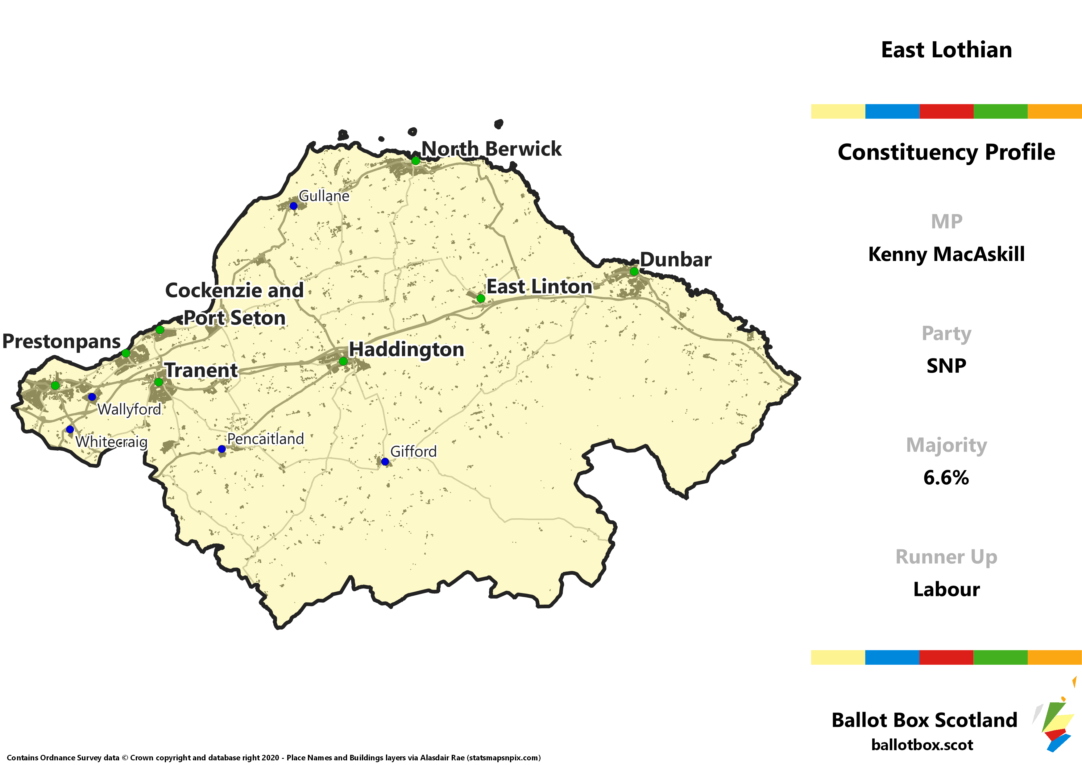 East Lothian Constituency Map