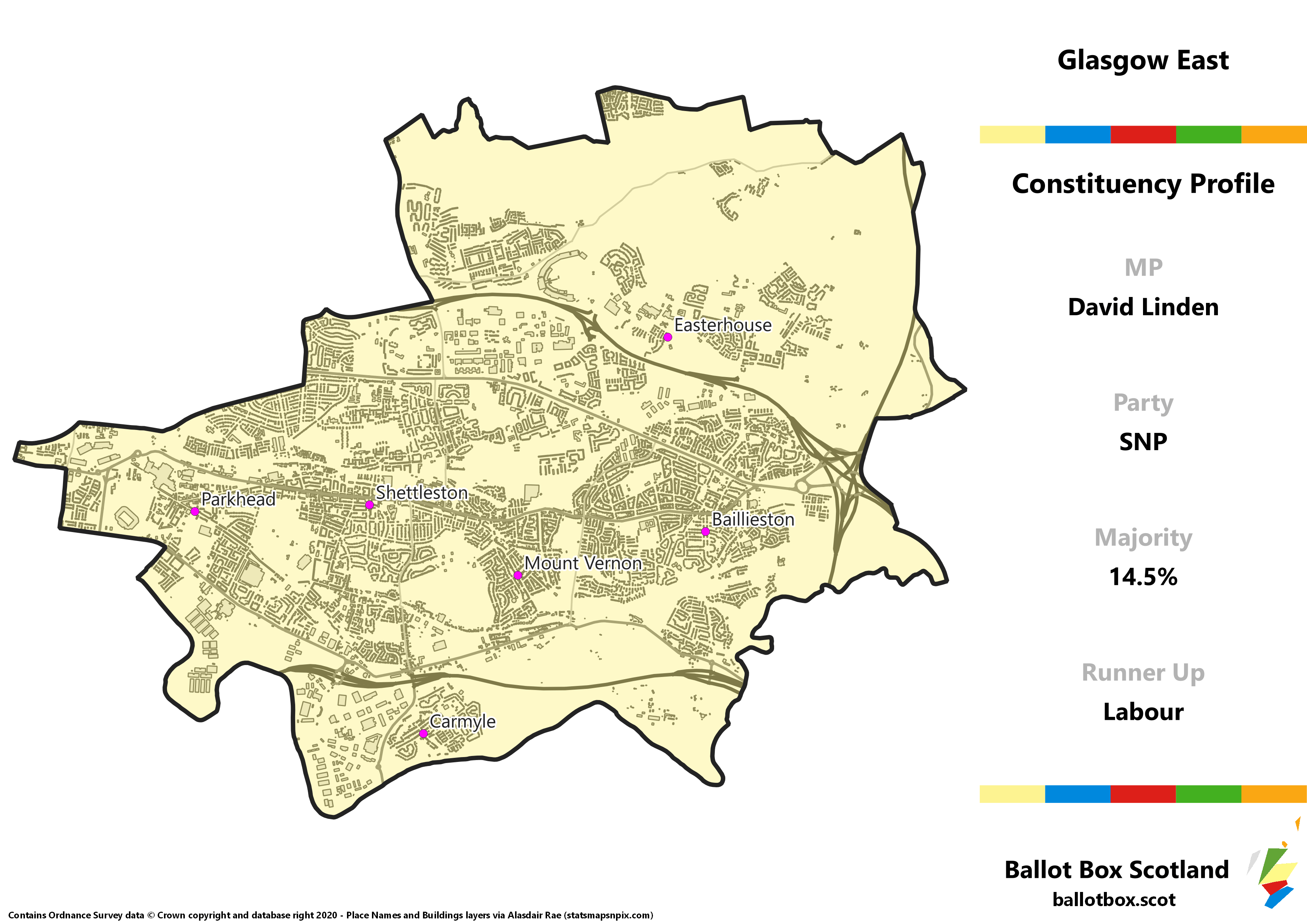 Glasgow East Constituency Map