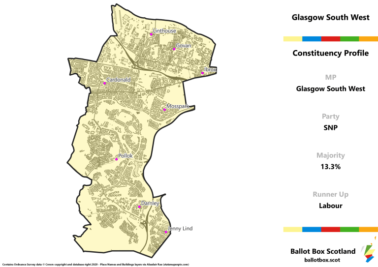 Glasgow South West Constituency Map