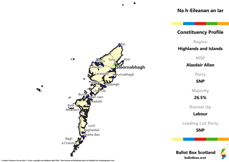 Highlands and Islands Region - Na h-Eileanan an Iar Constituency Map