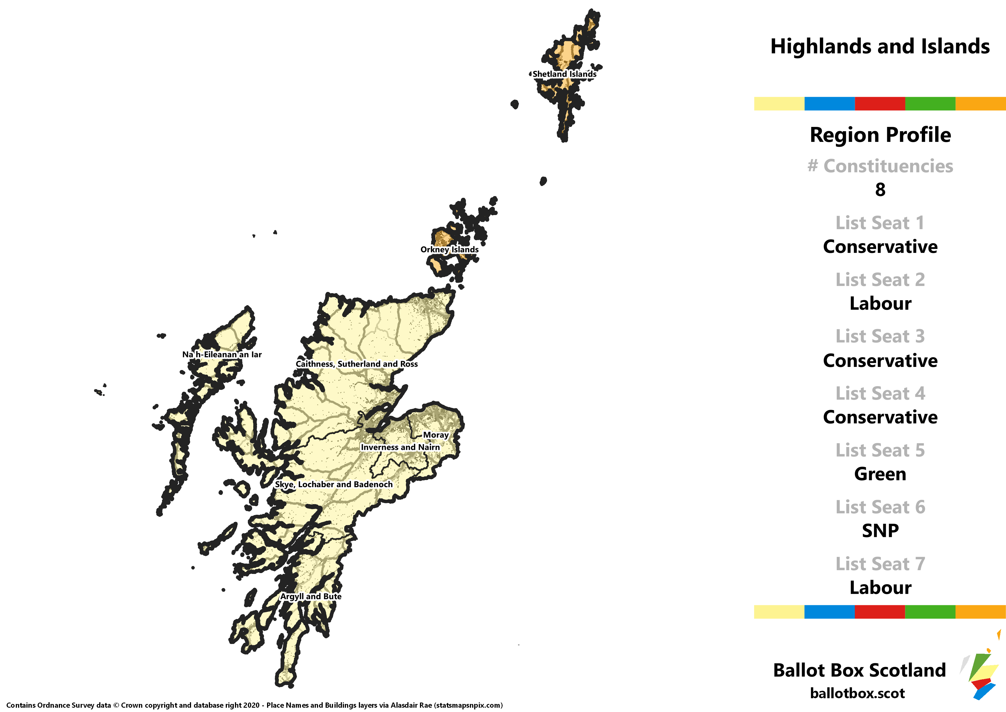 Highlands and Islands Region – Whole Region Map