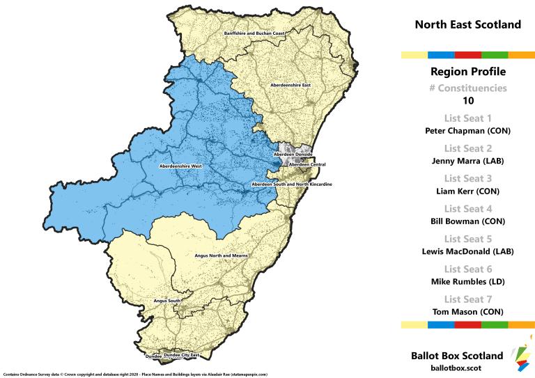 North East Region - Whole Region Map