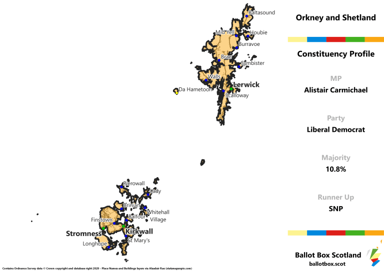 Orkney and Shetland Constituency Map