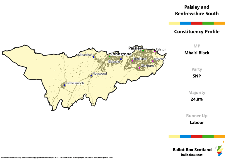 Paisley and Renfrewshire South Constituency Map
