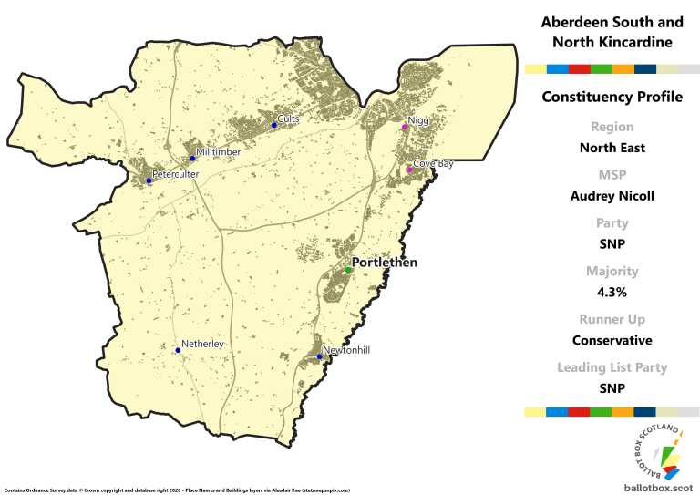 North East Region - Aberdeen South and North Kincardine Constituency Map