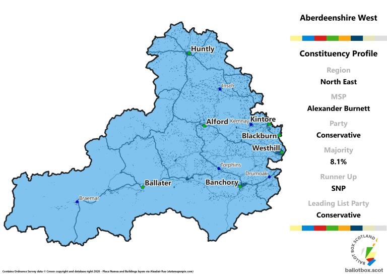 North East Region - Aberdeenshire West Constituency Map