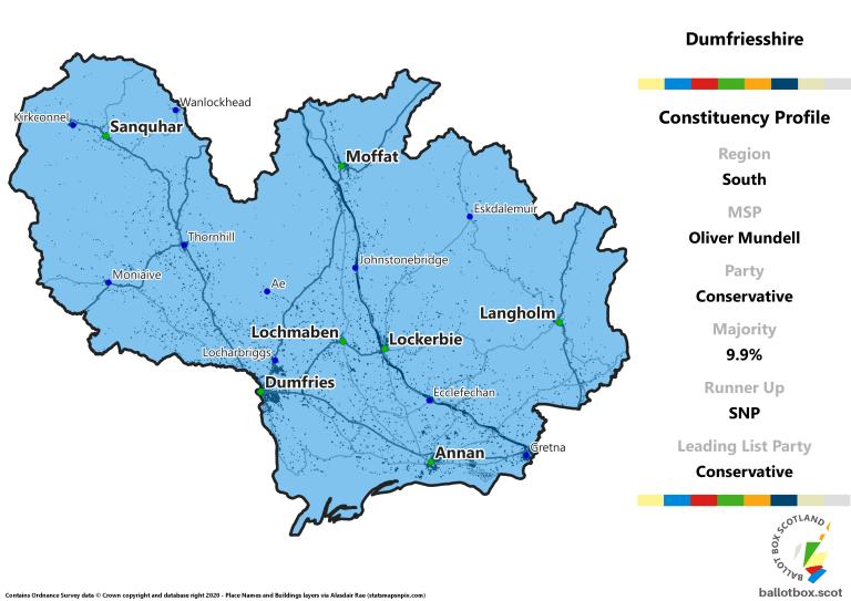 South Region - Dumfriesshire Constituency Map